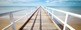 Perspective photo of a bridge