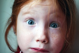 Little girl's face wide-eyed from Pixabay